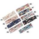 Spring new hair accessories bohemian headband printed cotton cross hairband children headband wholesale NHDM214773