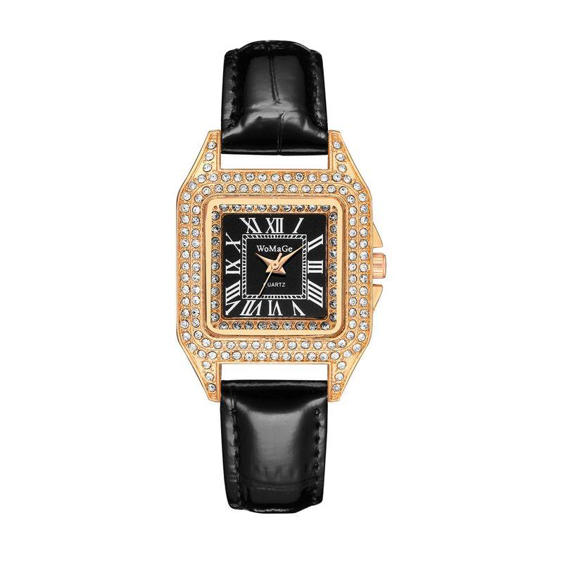 New fashion diamond diamond star belt watch square dial quartz ladies fashion watch nihaojewelry wholesale NHSS214792