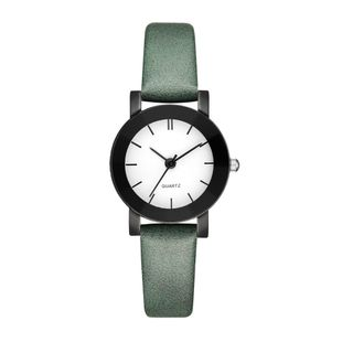 New black shell thin belt quartz casual watch simple female student belt hand watch nihaojewelry wholesale NHSS214795's discount tags
