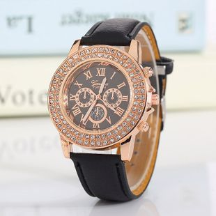 Geneva ladies watch new fashion double row diamond three eye belt quartz watch nihaojewelry wholesale NHSS214797's discount tags