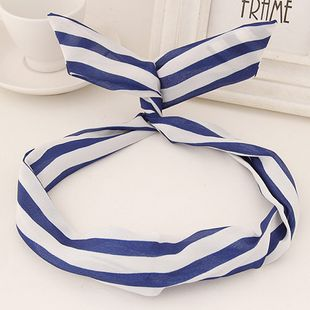 Korean fabric hair band nihaojewelry wholesale fashion dtripe cute rabbit hair accessory NHSC214969's discount tags