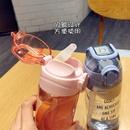 Alfabeto coreano deportes de moda caldera anticada de gran capacidad con vaso de plstico de paja taza de agua porttil nihaojewelry al por mayor NHtn214822