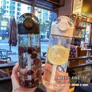 Nueva taza de paja simple deportes taza de agua transparente porttil estudiante femenina fcilmente taza de plstico tritan simple NHtn214826