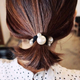 Korean fashion sweet simple elegant pearl hair rope wild hair cheap scrunchies nihaojewelry wholesale  NHSC214985