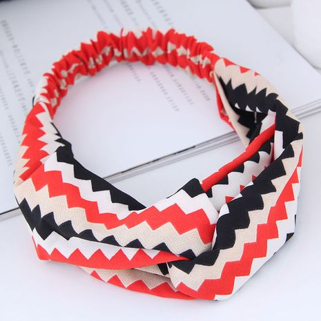 fashion sweet wide-sided platonic hair band  hair band nihaojewelry wholesale cross elastic wide-brimmed hair accessories hair band NHSC214972's discount tags
