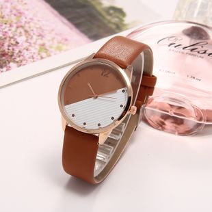Korean simple contrast color watch ladies fashion college style quartz watch student watch wholesale nihaojewelry wholesale NHLN214892's discount tags