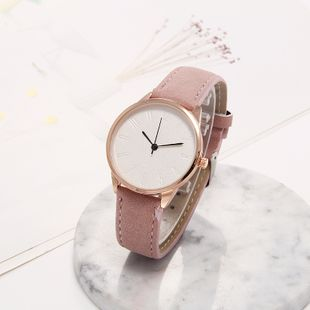 Korean new fashion simple scale Arabic digital quartz watch casual leather strap student watch nihaojewelry wholesale NHLN214893's discount tags