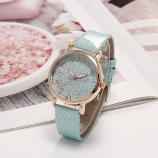 New fashion super flash starry surface simple belt watch digital pointer ladies quartz watch nihaojewelry wholesale NHLN214896's discount tags