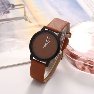 Simple leather multicolor watch female fashion wild small fresh watch quartz watch nihaojewelry wholesale NHLN214898's discount tags