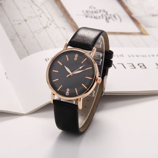 New fashion small dial belt diamond cut surface exquisite black luxury quartz watch nihaojewelry wholesale NHLN214900's discount tags