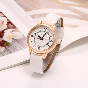 New casual Roman scale quartz belt watch fashion student female watch nihaojewelry wholesale NHLN214901's discount tags
