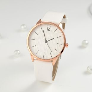 Korean new fashion simple scale ladies quartz watch leather strap student casual watch wholesale NHLN214902's discount tags