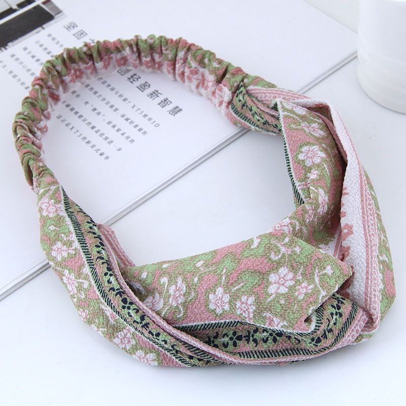 fashion  hair band nihaojewelry wholesale sweet cross elasticated hair accessories hair band NHSC214975