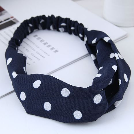 fashion  hair band nihaojewelry wholesale simple wide-sided polka dot cross elastic wide-band hair accessories hair band NHSC214979's discount tags