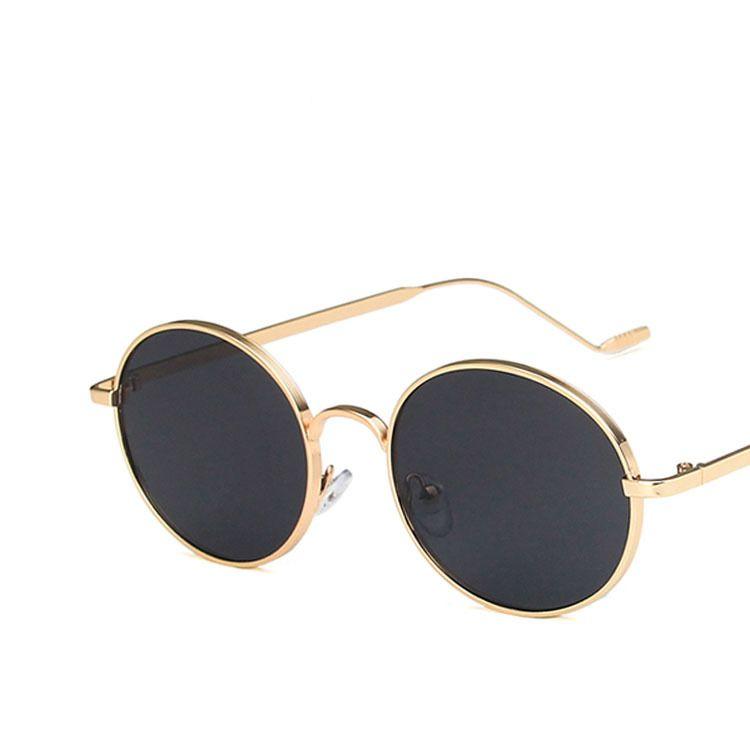 Oval metal sunglasses concave shape new street shooting sunglasses wholesale nihaojewelry NHKD214783