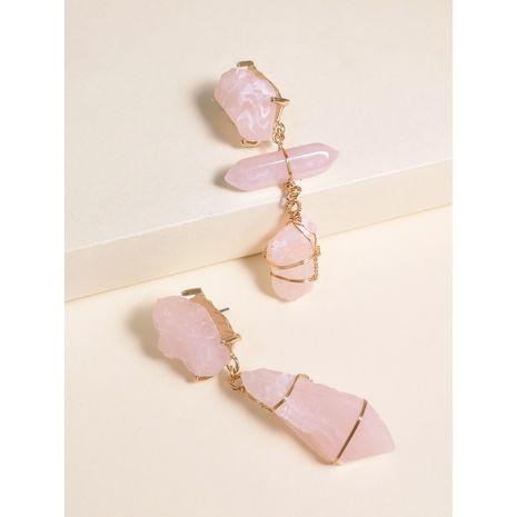 Boucles d'oreilles de mode asymétrique géométrique acrylique résine boucles d'oreilles nihaojewelry gros NHJJ214913's discount tags