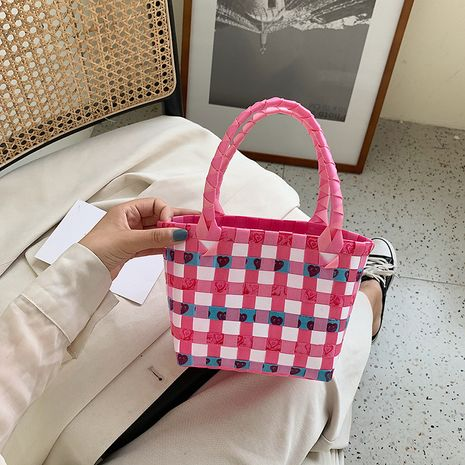 Fashion new trendy vegetable basket bag simple woven  shoulder portable armpit bag for women wholesale NHGA214921's discount tags