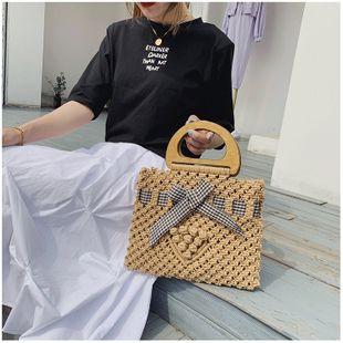 Bolso tejido verano nueva moda bolso tejido bowknot bolso de viaje para mujer al por mayor NHGA214928's discount tags