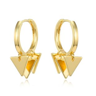 fashion simple new  punk personality multiple triangle pendant small earrings simple multi-layer geometric hoop earrings nihaojewelry wholesale NHGO220987's discount tags