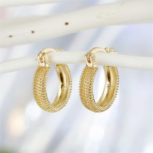 fashion retro trend jewelry simple classical golden geometric round earrings ear buckle fashion jewelry wholesale nihaojewelry NHGO221001's discount tags