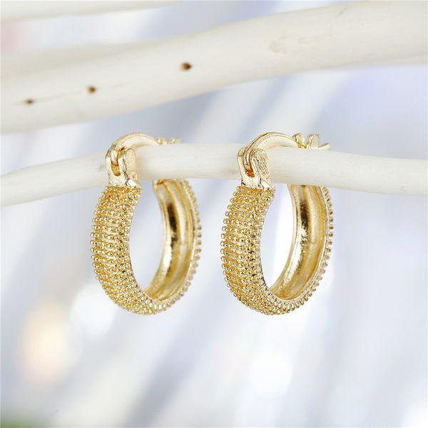 fashion retro trend jewelry simple classical golden geometric round earrings ear buckle fashion jewelry wholesale nihaojewelry NHGO221001