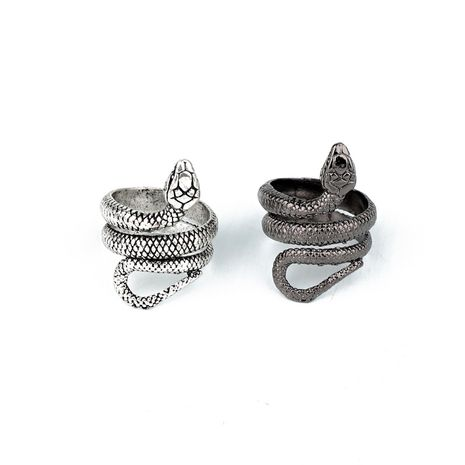 fashion trend jewelry punk personality snake ring retro fashion animal men's ring wholesale nihaojewelry NHGO221003's discount tags