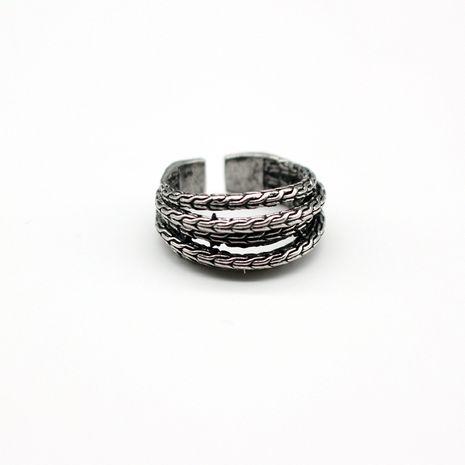 bijoux de mode rétro personnalité simple atmosphère multicouche rotin anneau ouvert bague pour hommes en gros nihaojewelry NHGO221007's discount tags