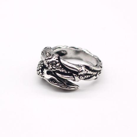 nouvelle tendance personnalité rétro punk animal aigle griffe anneau hommes bague vente chaude en gros nihaojewelry NHGO221009's discount tags