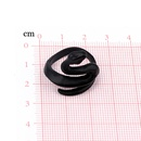 fashion trend retro ring black frosted snake ring opening adjustable animal ring jewelry wholesale nihaojewelry NHGO221013