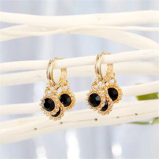 Korean simple temperament cute multi-layer sun flower pendant hoop earring tassel ear ring ear buckle wholesale nihaojewelry NHGO221018's discount tags