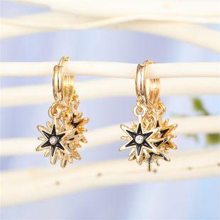 hot jewelry European simple retro demon eye hollow sun meteor earrings ear buckle wholesale nihaojewelry NHGO221019's discount tags