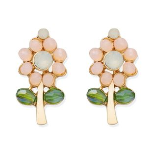 Japanese and Korean personality cute flower earrings candy color beads flower earrings wholesale nihaojewelry NHJQ221047's discount tags