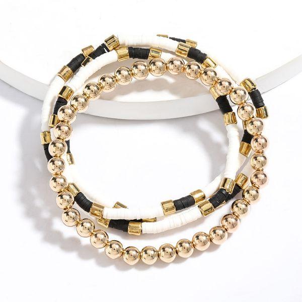 Colorido disco de cerámica suave cuentas hip hop pulsera de dos piezas de joyería larga al por mayor nihaojewelry NHJE221072