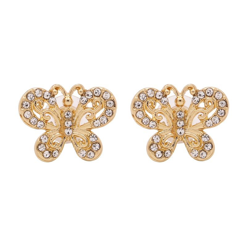 fashion exaggerated earrings alloy diamond insect butterfly ear jewelry hot sale stud earrings wholesale nihaojewelry NHUI221094