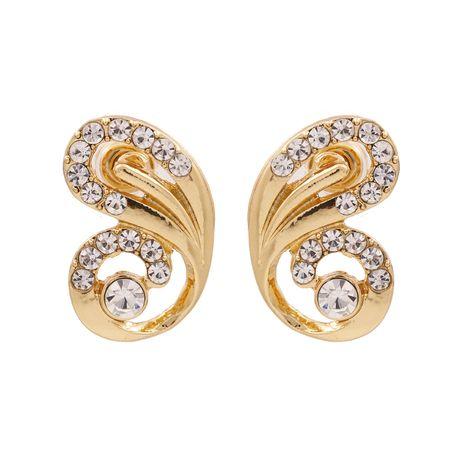 mode exagéré animal alliage diamant boucles d'oreilles personnalité papillon ailes strass boucles d'oreilles en gros nihaojewelry NHUI221103's discount tags