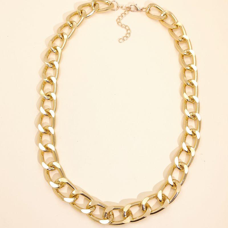 fashion retro style punk style exaggerated necklace metal alloy necklace wholesale nihaojewelry NHUI221133