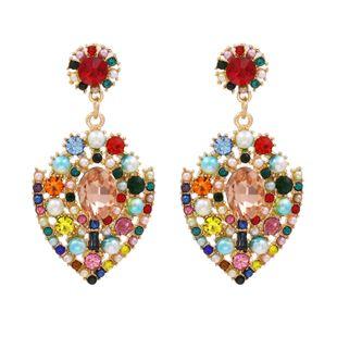 fashion new  alloy diamond color earrings earrings nihaojewelry wholesale NHUI221136's discount tags