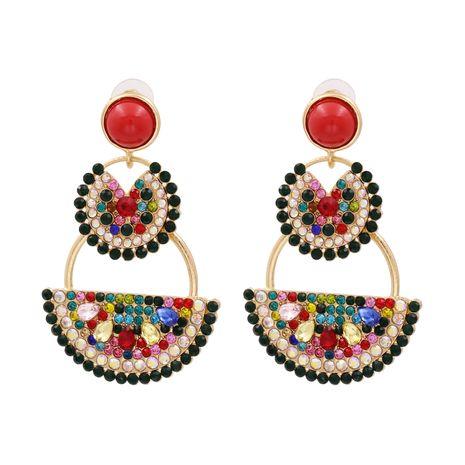 mode nouvelle nouvelle personnalité fruits boucles d'oreilles pastèque dames alliage diamant boucle d'oreille nihaojewelry gros NHUI221138's discount tags