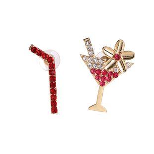 fashion  new colorful diamond   straw wine glass irregular earrings  nihaojewelry wholesale NHUI221140's discount tags