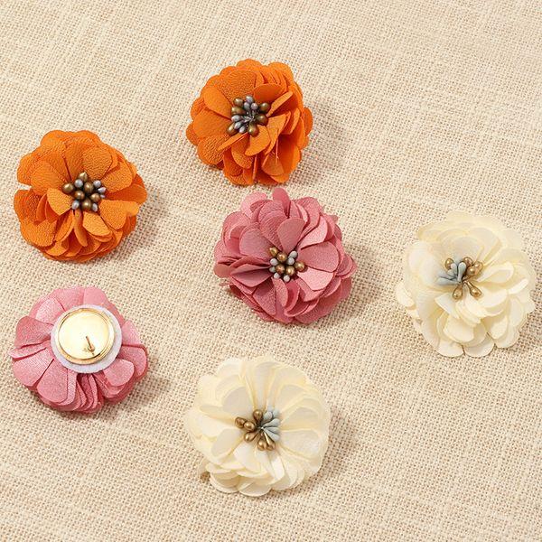 fashion jewelry temperament fabric petal earrings celebrity style wild flower earrings wholesale nihaojewelry NHNZ221186