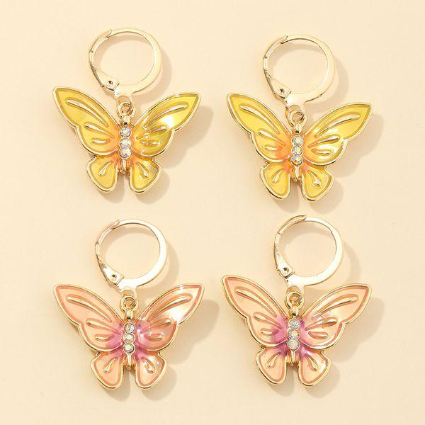 fashion jewelry summer diamond butterfly earrings temperament wild earrings wholesale nihaojewelry  NHNZ221190
