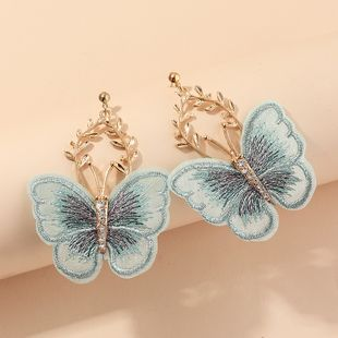 fashion jewelry beautiful embroidery butterfly earrings ancient style national style earrings wholesale nihaojewelry NHNZ221197's discount tags
