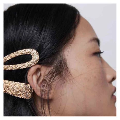 simple style fashion metal frosted hair clip side clip personalized creative word clip wholesale nihaojewelry NHCT221217's discount tags