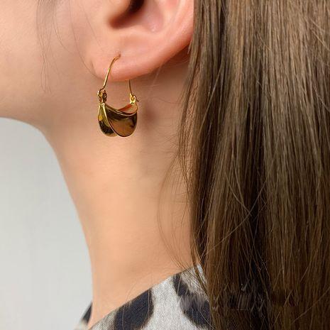new wave irregular arc earrings wild temperament earrings niche design wholesale nihaojewelry NHNT221245's discount tags