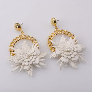 retro handmade flower wreath earrings femininity long holiday earrings Korean fashion ear jewelry wholesale nihaojewelry NHNT221254's discount tags