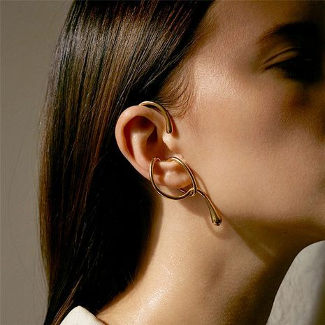 Geometric exaggerated ear bone clip personality ear hanging ear jewelry new wave ear clip without pierced wholesale nihaojewelry NHNT221267's discount tags