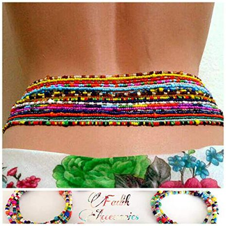 fashion jewelry fashion multi-layer mix and match body chain sexy handmade beaded color rice beads waist chain wholesale nihaojewelry NHXR221294's discount tags