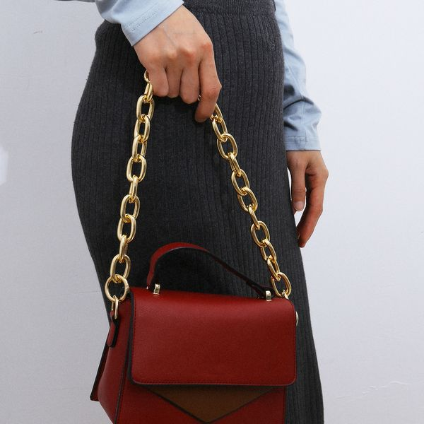 fashion jewelry fashion exaggerated thick chain geometric accessories personality business chain single-layer handbag chain wholesale nihaojewelry NHXR221317