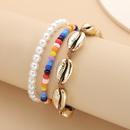 fashion jewelry wild shell imitation pearl jewelry beach hit color rice beads geometric handmade bracelet wholesale nihaojewelry NHXR221325