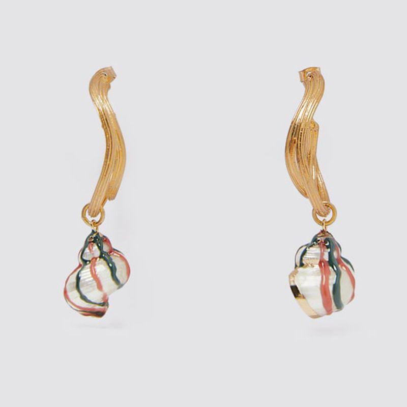 geometric personality natural conch earrings Earrings simple temperament shell earrings jewelry wholesale nihaojewelry NHLA221333